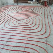 laying infrared floor